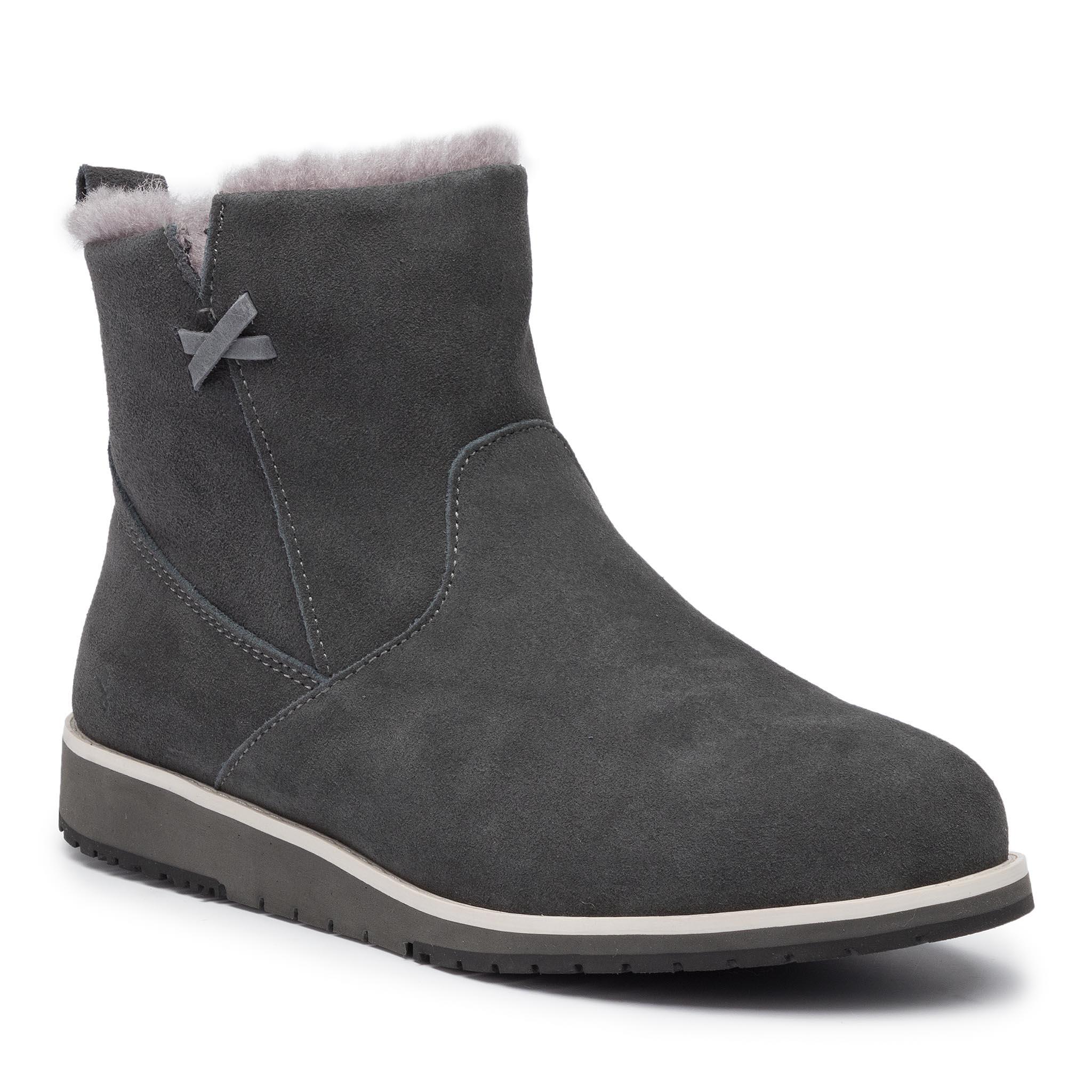 Image of Schuhe EMU AUSTRALIA - Beach Mini W11026 Dark Grey