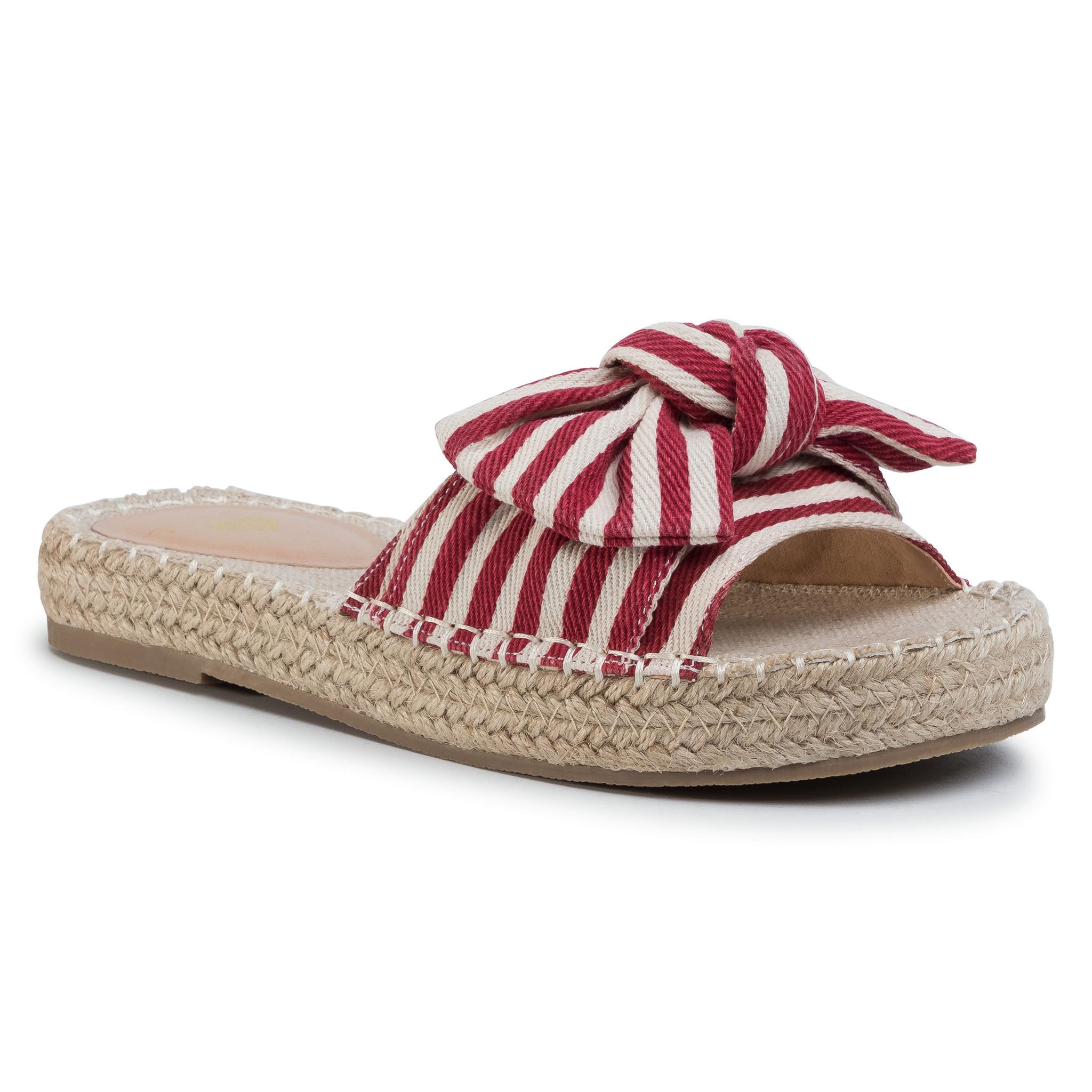 Image of Espadrilles TWINSET - Ciabattina 201LMPZRR Bic.True Red/Ottico 05080