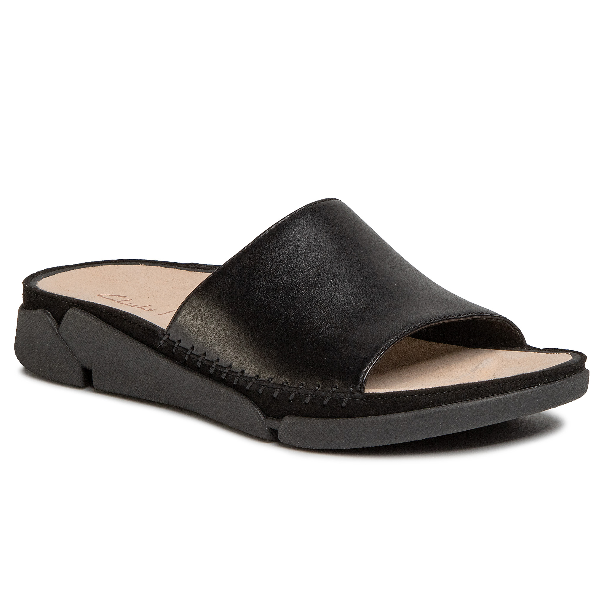 Image of Pantoletten CLARKS - Tri Slide 261487634 Black Leather