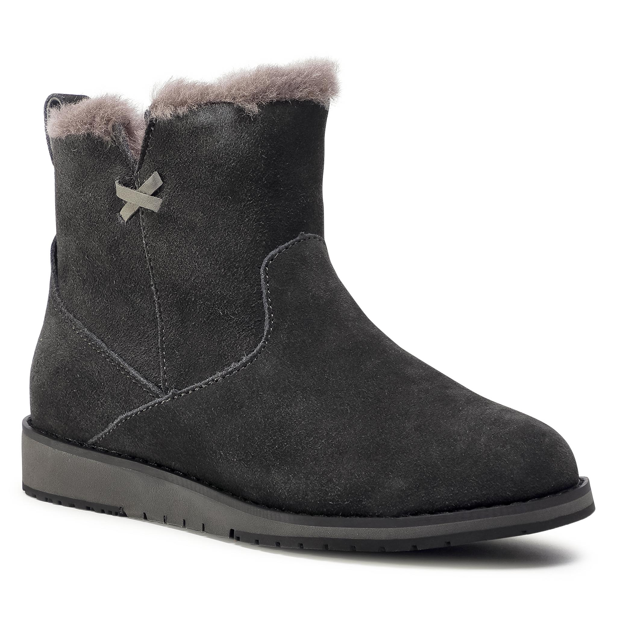 Image of Schuhe EMU AUSTRALIA - Beach Mini W11026 Dark Grey/Black
