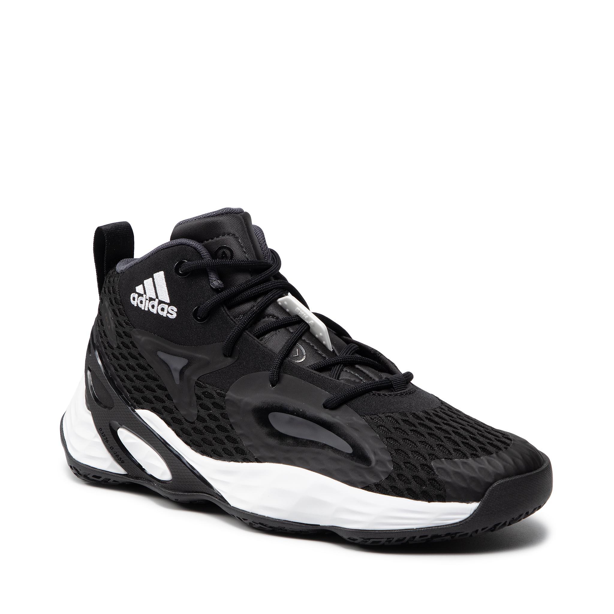 Image of Schuhe adidas - Exhibit A Mid H67747 Cblack/Silvmt/Tmdrgr