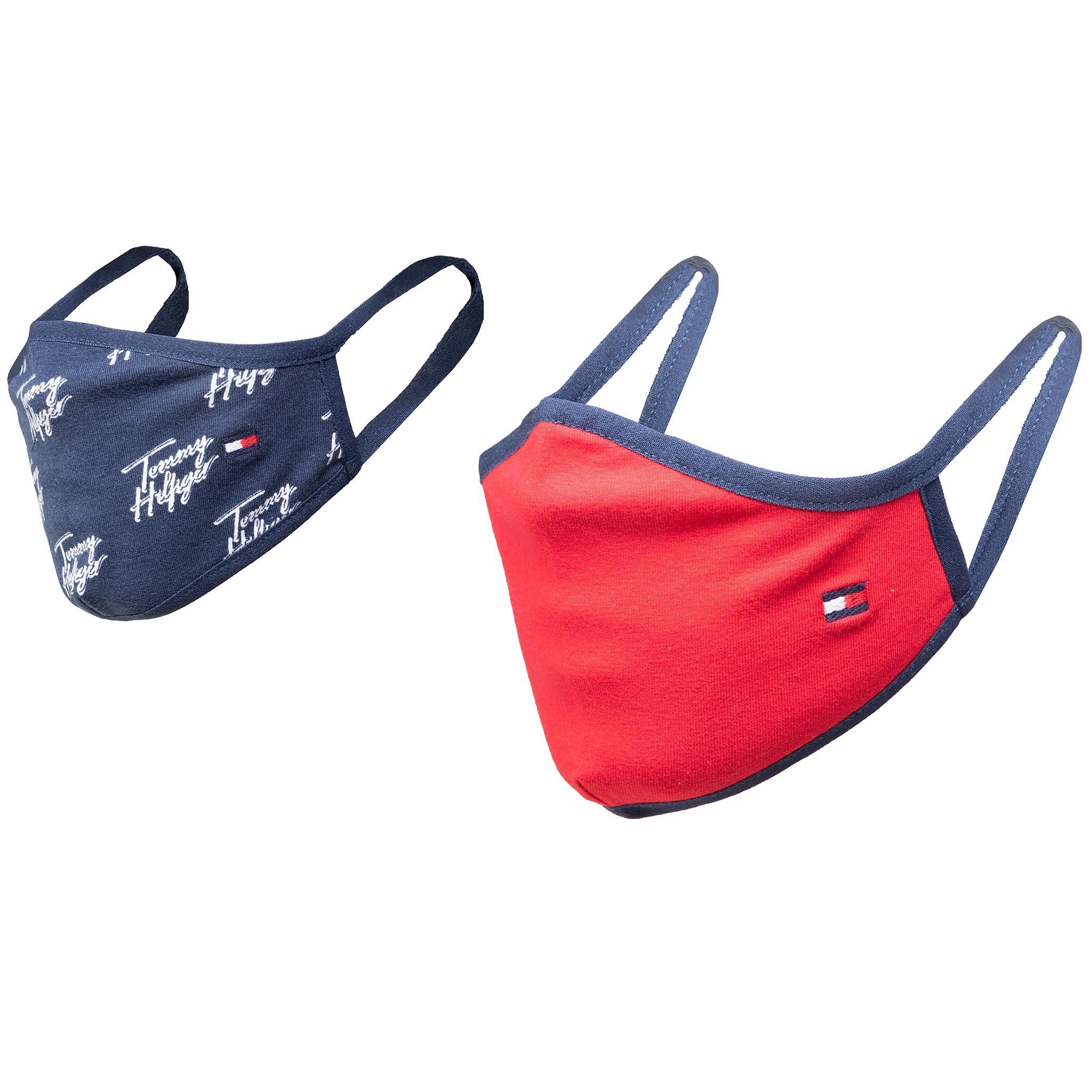 Image of 2er-Set Stoffmasken für Kinder TOMMY HILFIGER - Kids Face Covers 2-Pack AU0AU01188 0GY