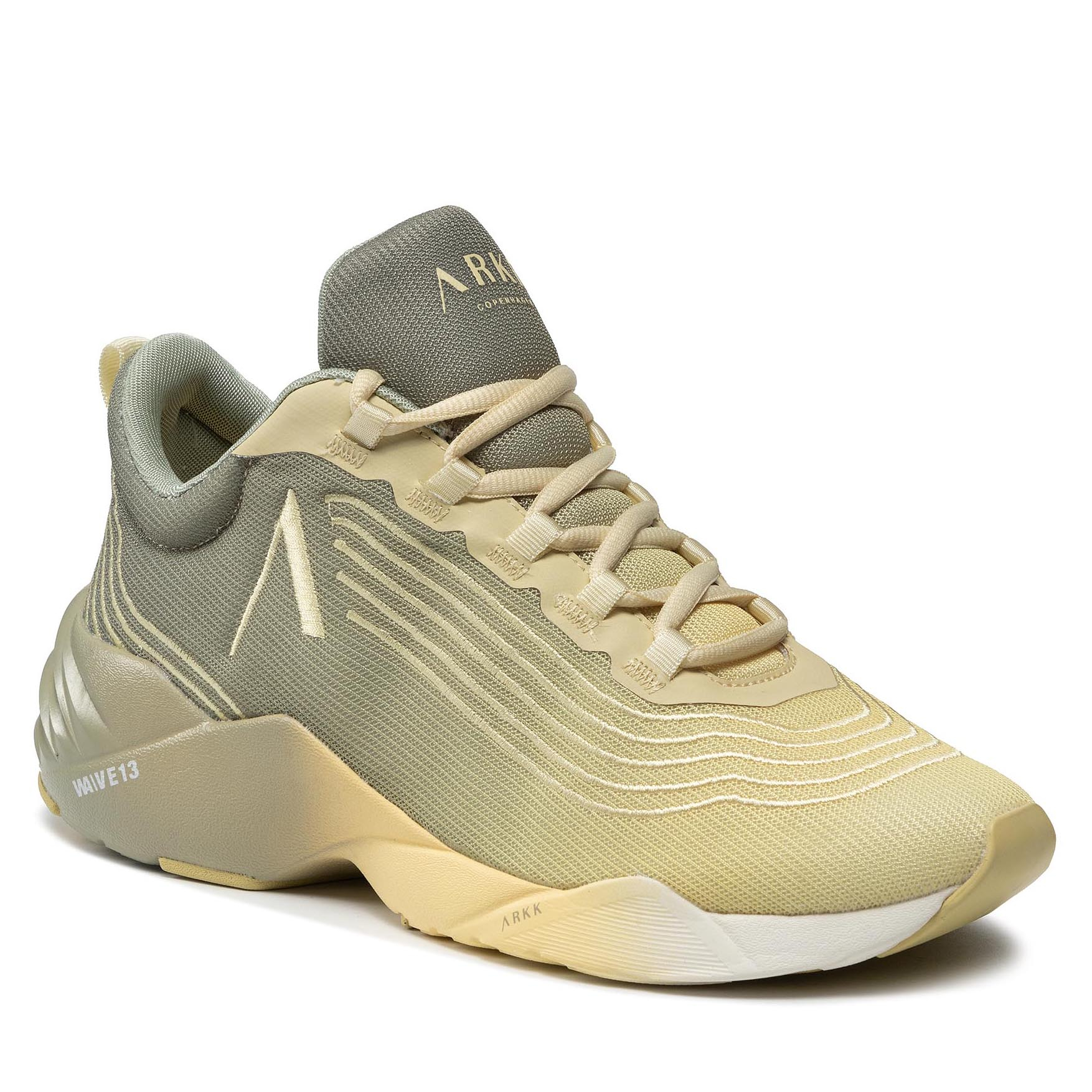 Image of Sneakers ARKK COPENHAGEN - Avory Mesh W13 CO4913-0284-M Desert Sage Mellow Yellow