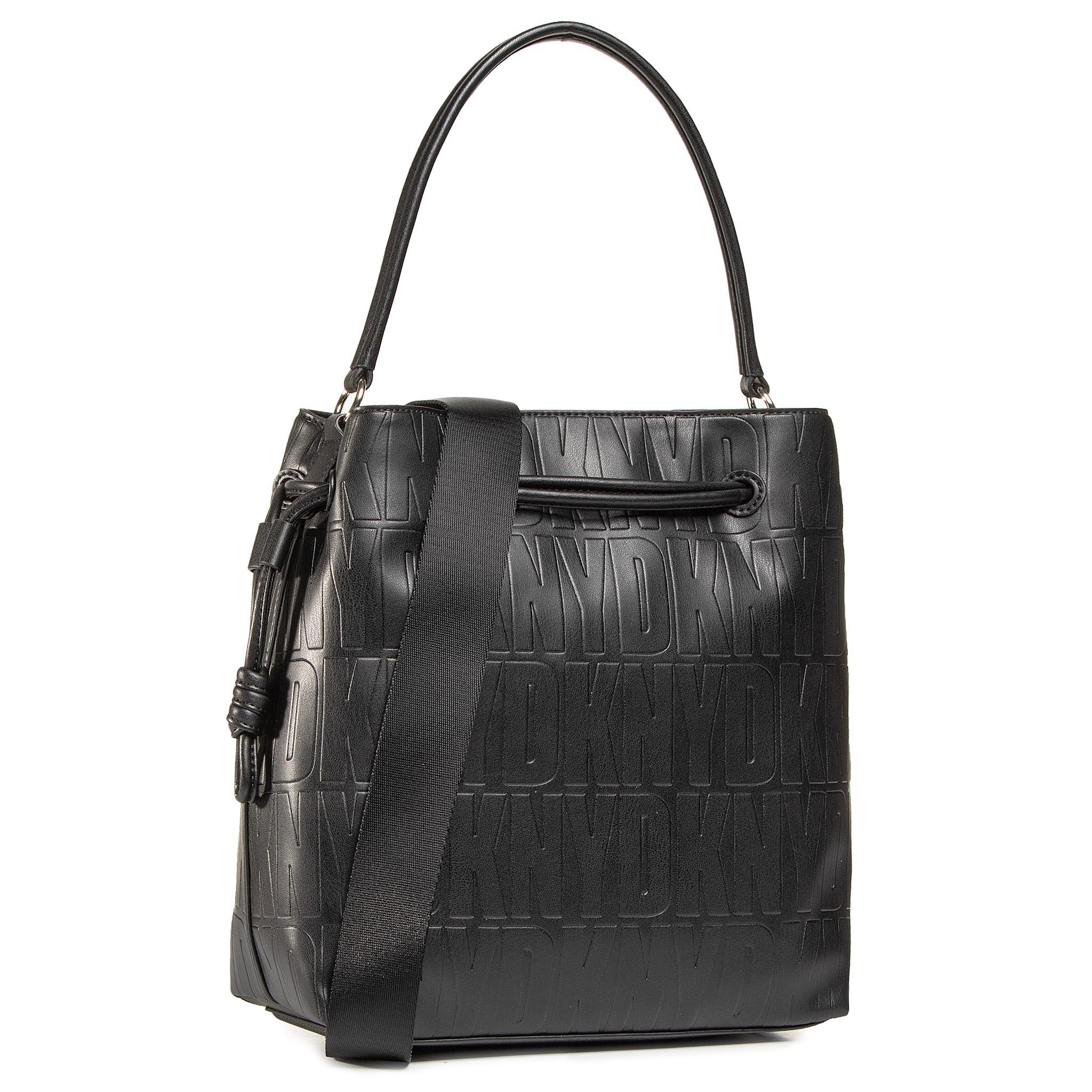 Image of Handtasche DKNY - Jude Drawstring Buck R04JVF61 Blk/Gold BGD