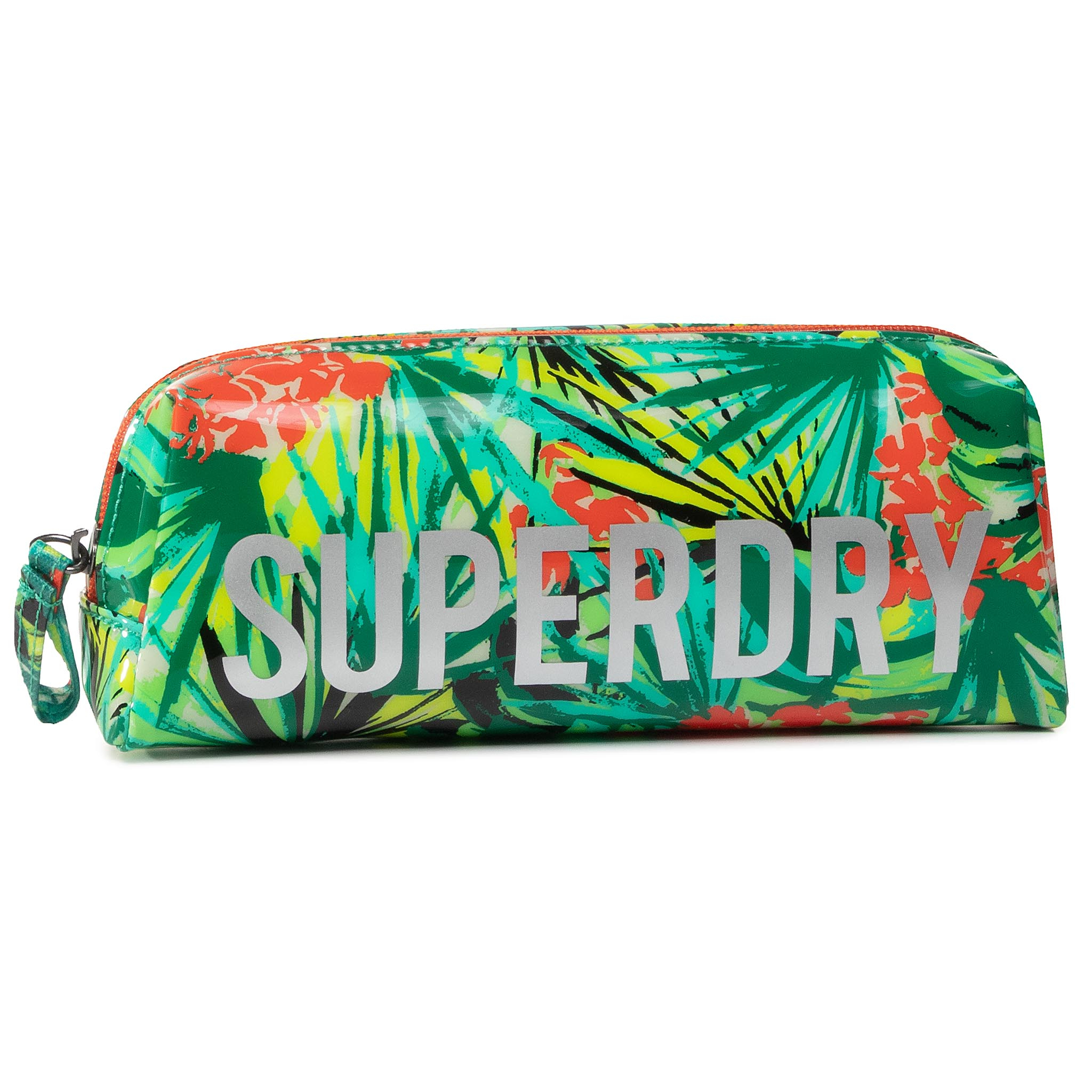 Image of Federtasche SUPERDRY - Jelly Pencil Case W9810025A Green Tropical