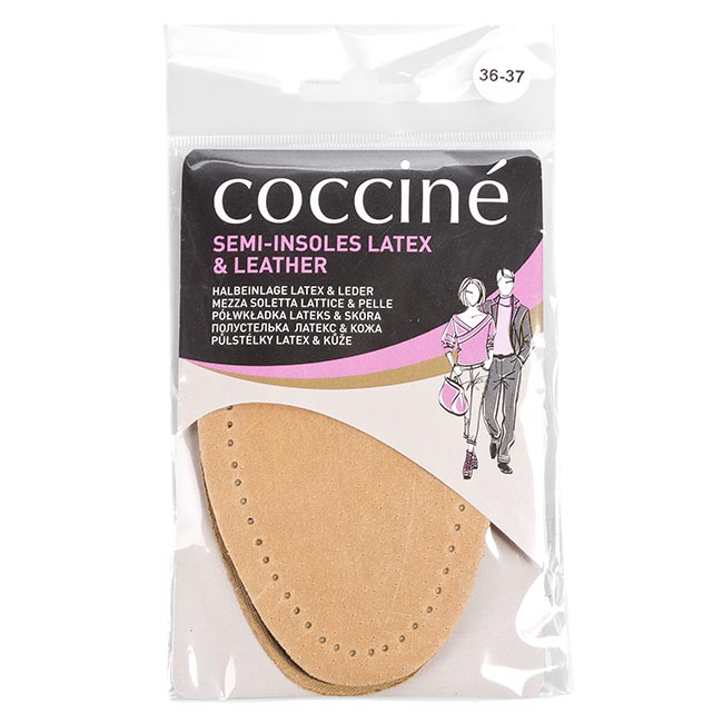 Image of Halbsohle COCCINE - Semi-Insoles Latex & Leather Beżowy 36-37
