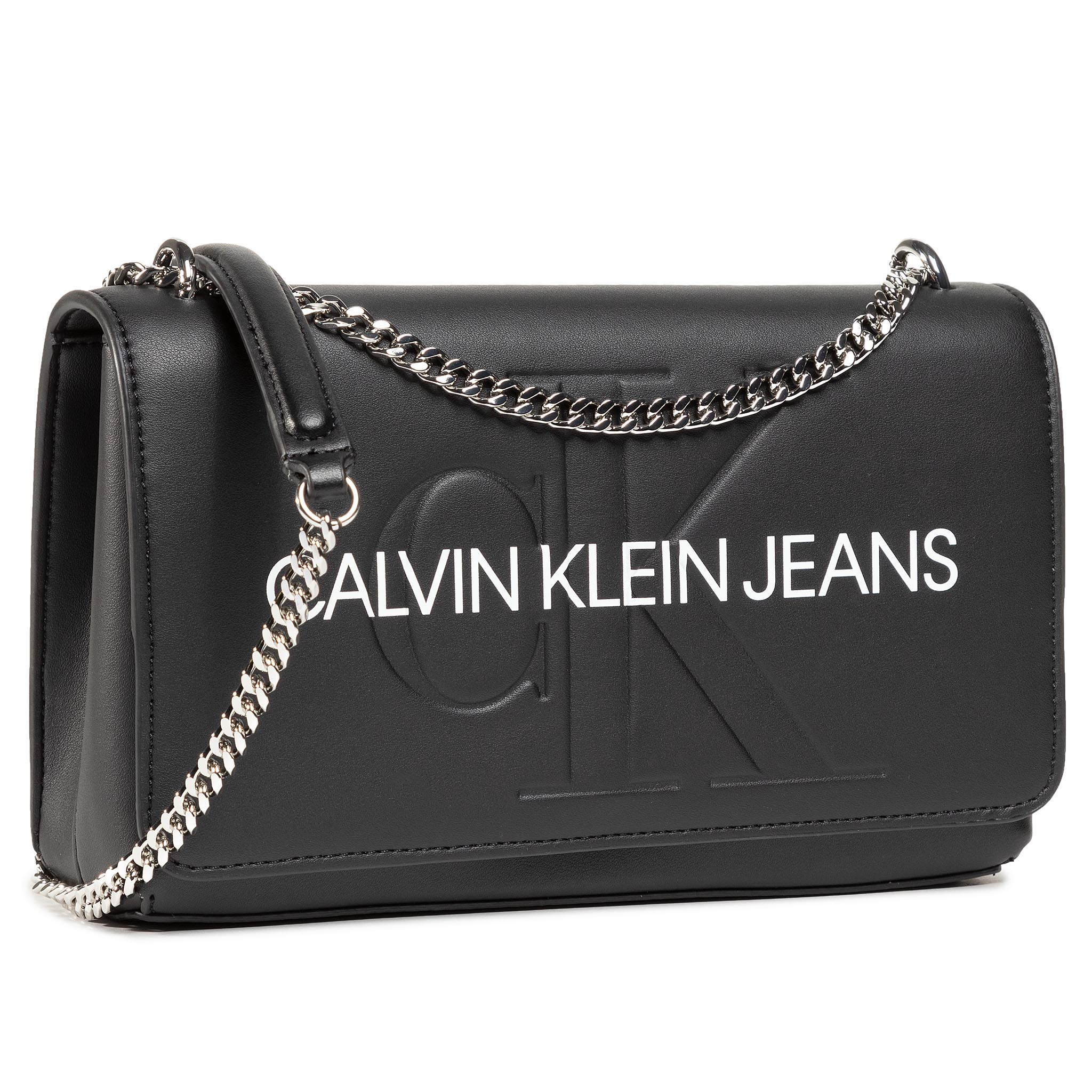 Image of Handtasche CALVIN KLEIN JEANS - Convertible Ew Flap K60K607198 BLK