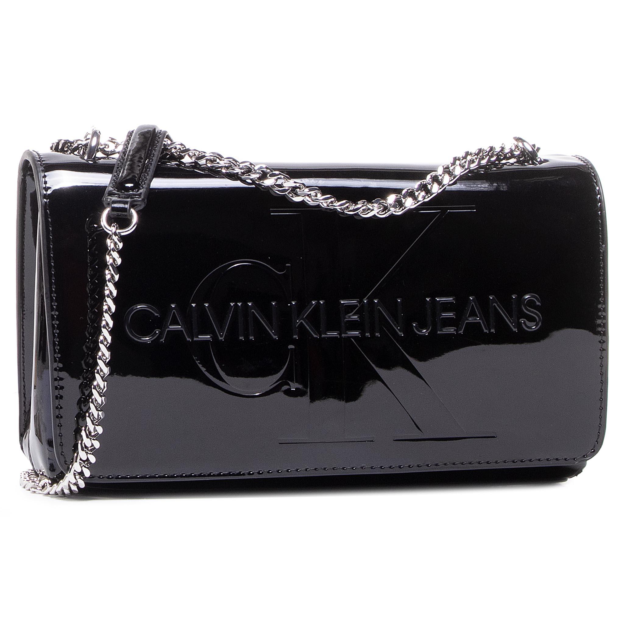 Image of Handtasche CALVIN KLEIN JEANS - Convertible Ew Flap Patent K60K607622 Black BDS