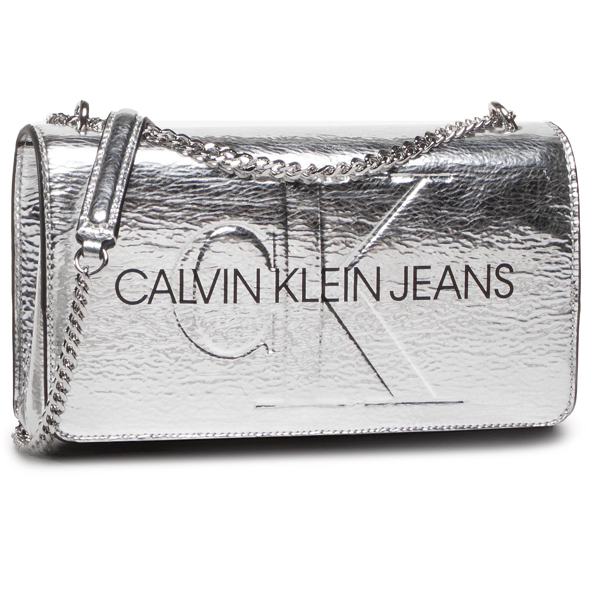 Image of Handtasche CALVIN KLEIN JEANS - Convertible Ew Flap Silver K60K607620 0GT
