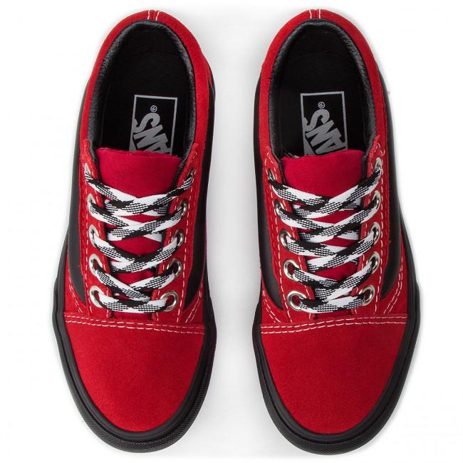 Vans 90s Retro Old Skool Lug Rot Damen Schuhe Online Kaufen