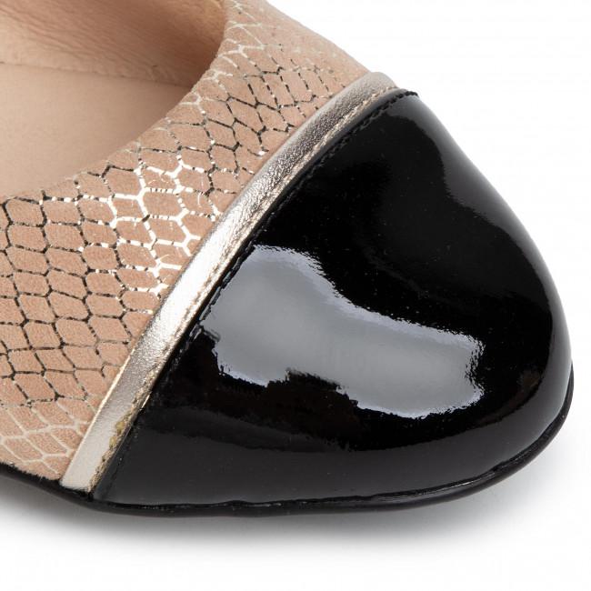 Einkaufen Ballerinas CAPRICE - 9-22111-24 Beige Snake Co 493 - Ballerinas - Halbschuhe - Damenschuhe 4e4lh