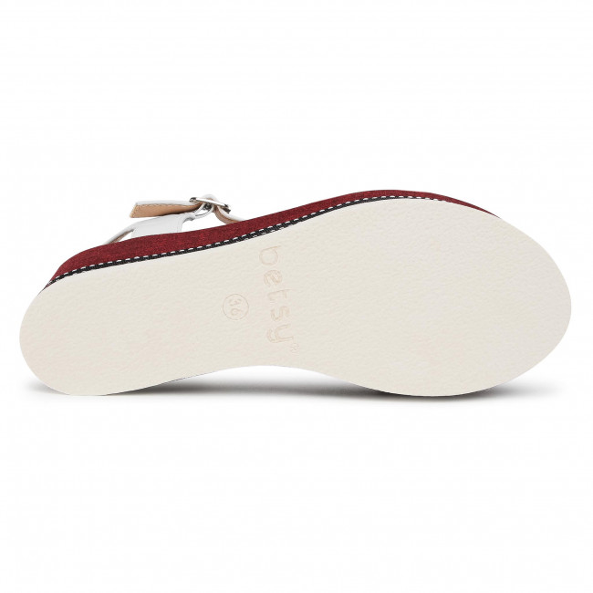 Preiswert Sandalen BETSY - 907024/01-01E  White - Keilabsatz - Pantoletten und Sandaletten - Damenschuhe 7mkQY