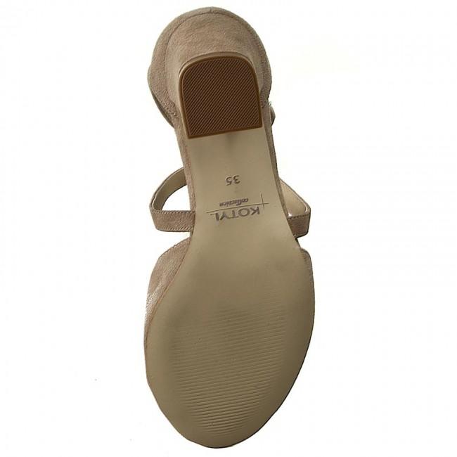 Sandalen KOTYL - 4317 Beż Zamsz - Alltägliche Sandalen - Sandalen - Pantoletten und Sandaletten - Damenschuhe c9g4uqTV