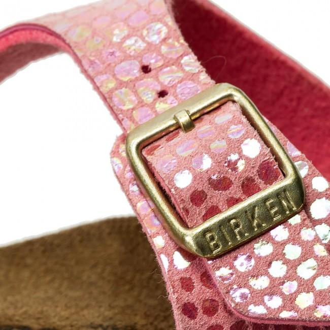 Zehentrenner BIRKENSTOCK Gizeh Kids Bs 1003325 Shiny Snake Pink