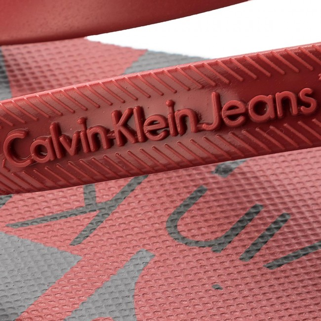 Zehentrenner CALVIN KLEIN JEANS - Dash Jelly S0063 Dark Red - Zehentrenner - Pantoletten und Sandaletten - Herrenschuhe qUQcLJSH