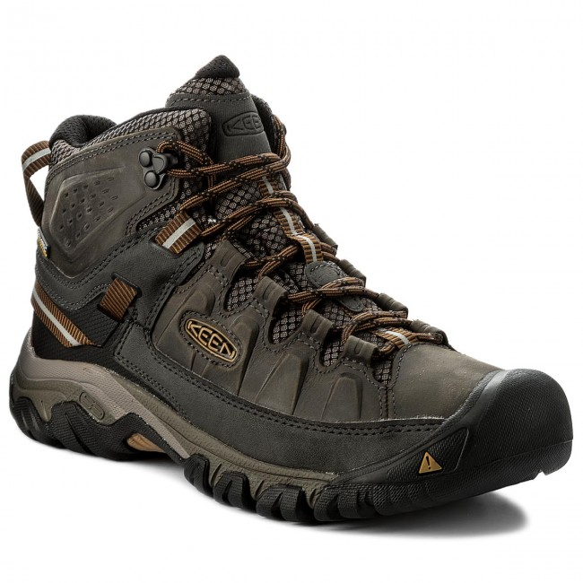 Trekkingschuhe KEEN - Terghee III Mid Wp 1017787 Black Olive/Golden Brown