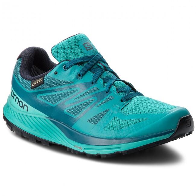 Schuhe SALOMON Sense Escape Gtx W GORE TEX 402353 21 W0 Tropical GreenAtlantisDeep Lagon