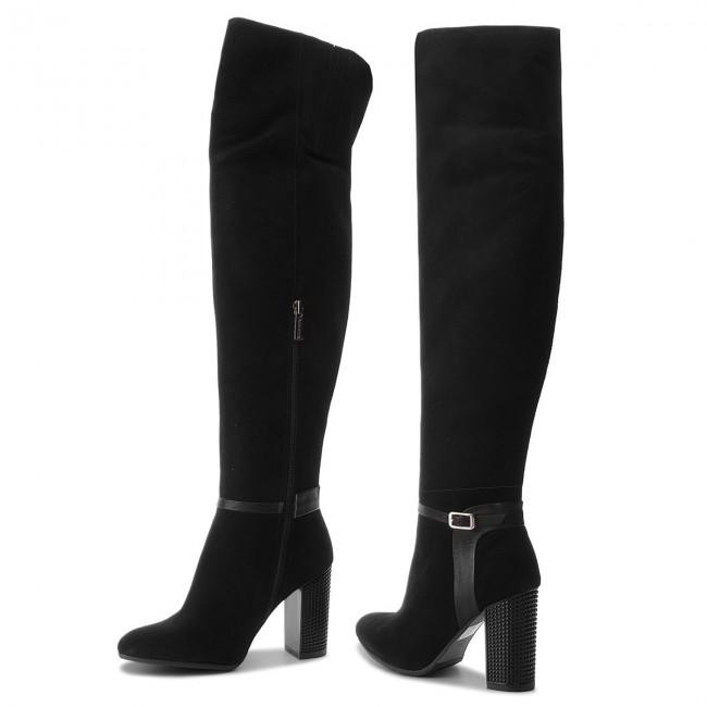 Overknees ANN MEX - 9053 01W+01S Schwarz - Overknee Stiefel - Stiefel und andere - Damenschuhe QjLrQeXj