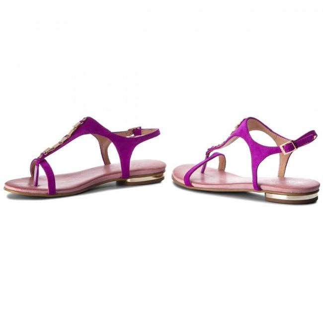 Sandalen R.POLAŃSKI - 0826 Fuksja Zamsz - Alltägliche Sandalen - Sandalen - Pantoletten und Sandaletten - Damenschuhe YBxuwUJ3