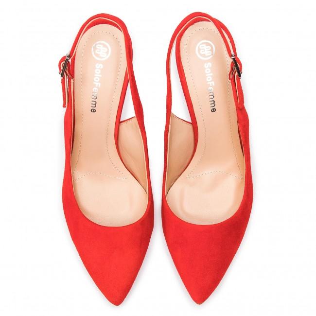 Sandalen SOLO FEMME - 34209-A8-G13/000-05-00 Rot - Elegante Sandalen - Sandalen - Pantoletten und Sandaletten - Damenschuhe XJ8BiBXE