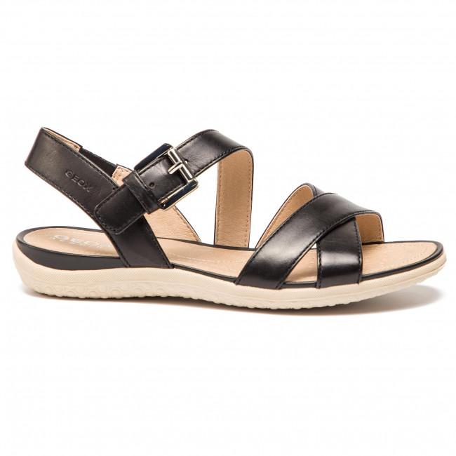 Sandalen GEOX - D Sand.Vega E D92R6E 00043 C9999 Black - Alltägliche Sandalen - Sandalen - Pantoletten und Sandaletten - Damenschuhe 7yyaKdNU