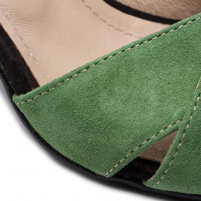 Sandalen ANN MEX - 0222 13WJ 01W Grün Schwarz - Alltägliche Sandalen - Sandalen - Pantoletten und Sandaletten - Damenschuhe UzOzZN1J