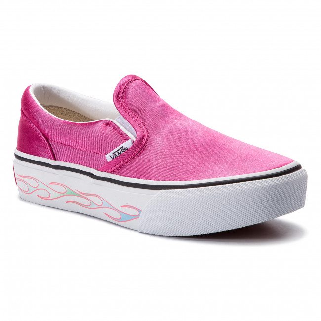 On Flamecarmine Vn0a3tl1vn61 Slip Vans Turnschuhe Classic P Sidewall rsQdChtx