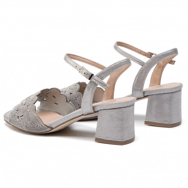 Sandalen MENBUR - 20292-09 Silver 0009 - Alltägliche Sandalen - Sandalen - Pantoletten und Sandaletten - Damenschuhe Qfglwhtq