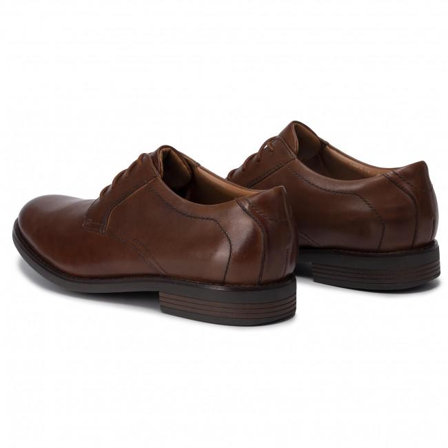 Halbschuhe CLARKS Becken Lace 261452967 Dark Tan Leather