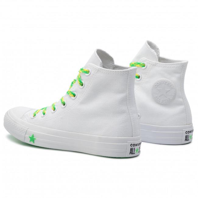 Sportschuhe CONVERSE Ctas Hi 564123C WhiteAcid GreenFresh Yellow