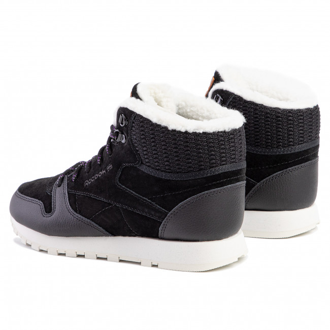 Schuhe Reebok - Cl Lthr Arctic Boot DV7233 Black/Purple/Chalk/B - Sneakers - Halbschuhe - Damenschuhe Wn82XyY5
