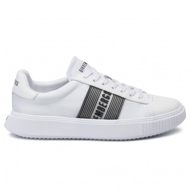 Low Sneakers Bikkembergs Lace Up White Top B4bkm0027 PukZiOXT