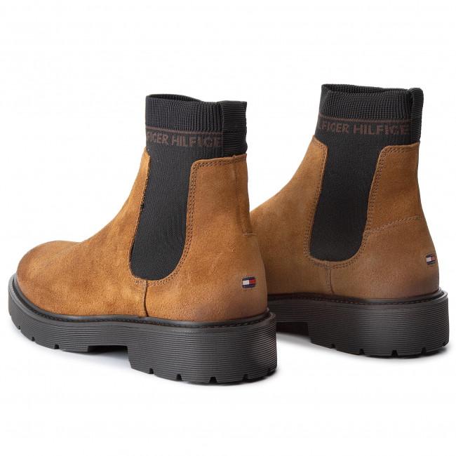 TOMMY HILFIGER HERREN Chelsea Boots Stiefeletten Wildleder