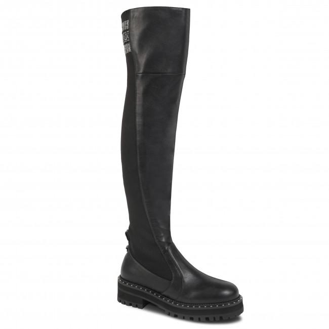 102 Black S69051 Px047 Knee Overknees 22222 Liu Pink Boot Jo J3ul51cFKT