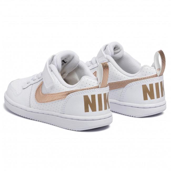 Schuhe NIKE Court Borough Low Ep (Psv) BV0748 100 WhiteBlurBlur