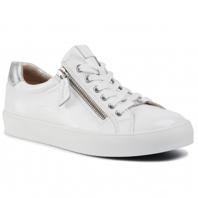 23701 24 Caprice White and Rose Gold Trainers