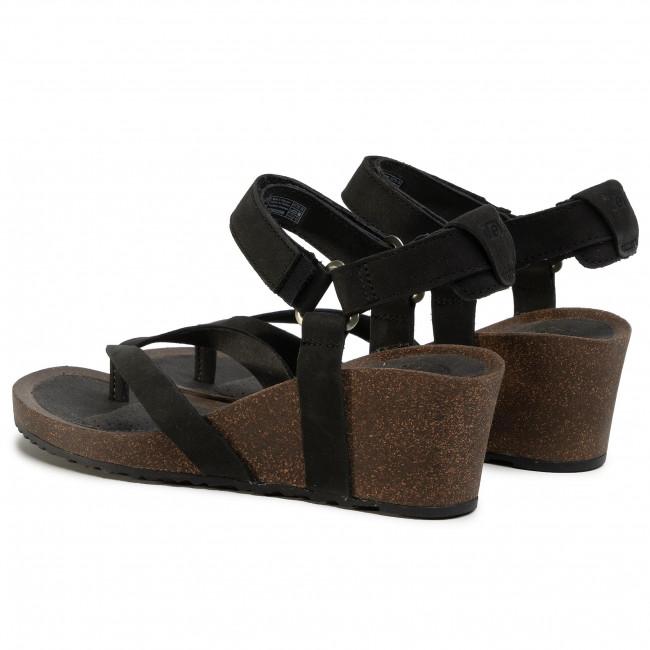 Sandalen TEVA - Mahonia Wedge Thong 1110765 Blk - Keilabsatz - Pantoletten und Sandaletten - Damenschuhe k78UtxPZ