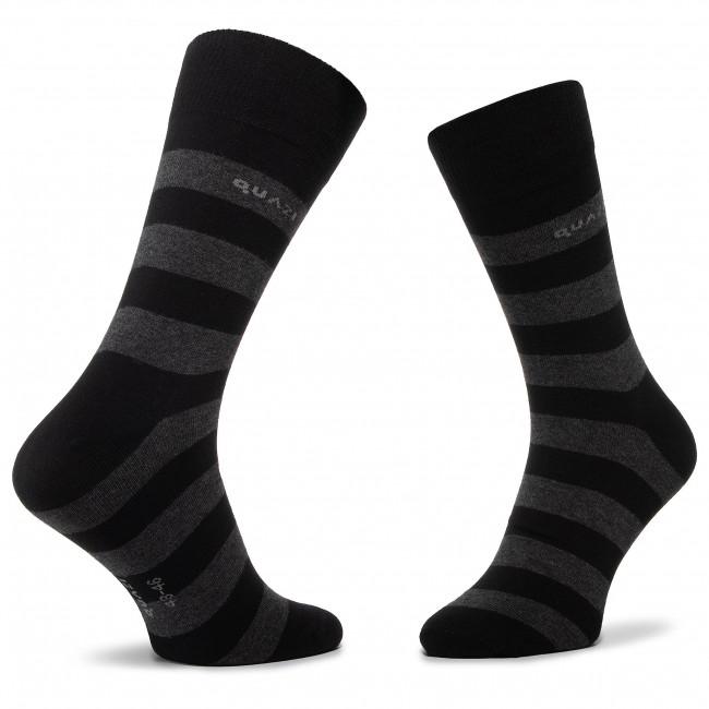Set 3 Paar hohe Herrensocken QUAZI - QZ-SOCKS-65-04-MEN-009 Schwarz - Hohe - Herren - Socken - Textilien - Zubehör tv49MTFr