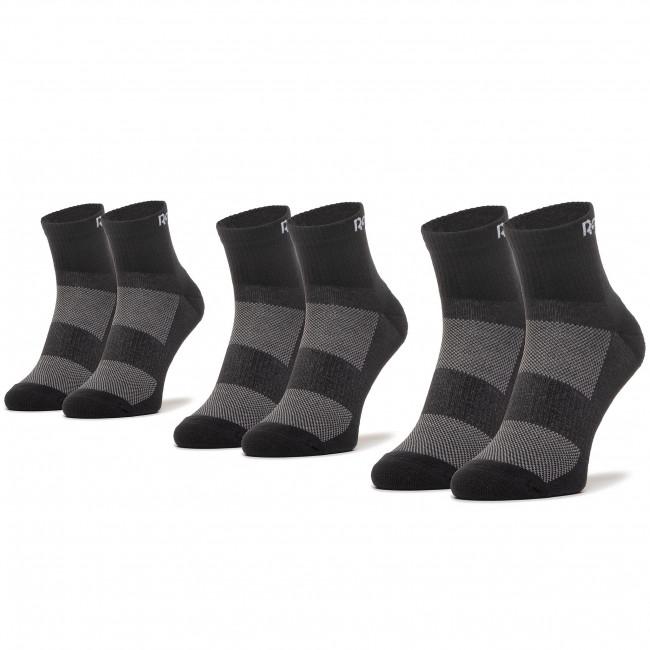 Set 3 Paar hohe Unisex-Socken Reebok - Te Ank Sock 3P GH0419 Black