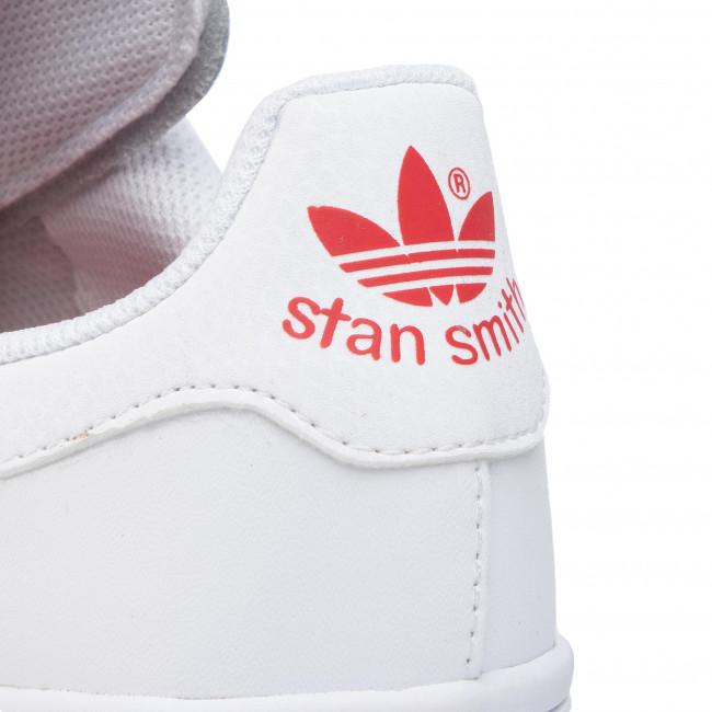 Schuhe adidas - Stan Smith J EG6495 Ftwwht/Ftwwht/Lusred - Sneakers - Halbschuhe - Damenschuhe wVTZGD8s