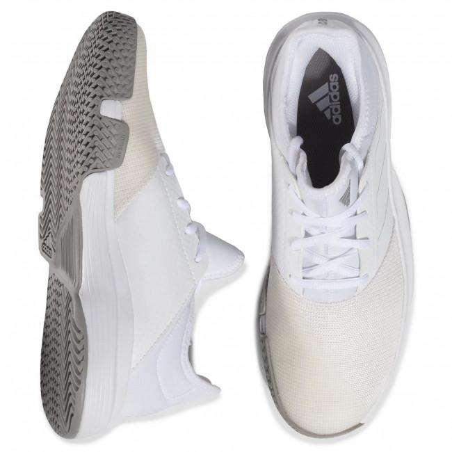 Schuhe adidas - GameCourt EG2008 Ftwwht/Ftwwht/Dovgry - Tennis - Sportschuhe - Damenschuhe 92dsS0QG