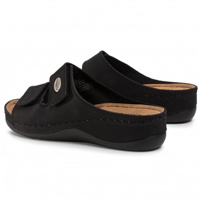 Pantoletten TAMARIS - 1-27510-24 Black 001 - Keilabsatz - Pantoletten und Sandaletten - Damenschuhe 28LQHaYs