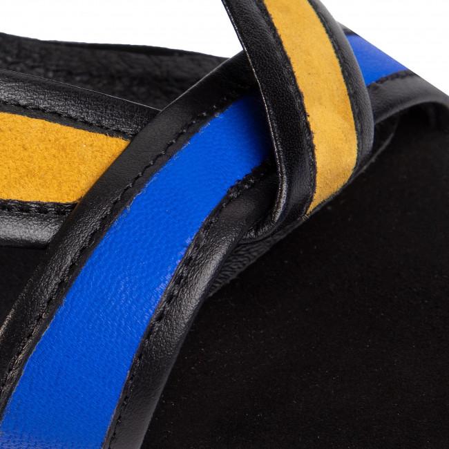 Sandalen ANN MEX - 0812 01W Żółty/Kobalt - Alltägliche Sandalen - Sandalen - Pantoletten und Sandaletten - Damenschuhe yThYn9CU