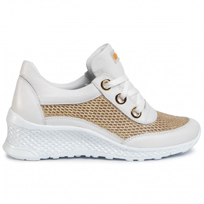 Sneakers NESSI - 20681 Biały/Złoto - Sneakers - Halbschuhe - Damenschuhe xx705Imm