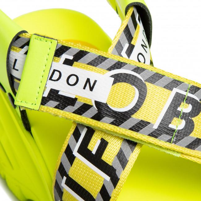Sandalen BUFFALO LONDON - Bo BN15010391 Neon Yellow - Keilabsatz - Pantoletten und Sandaletten - Damenschuhe DSGRYhmC