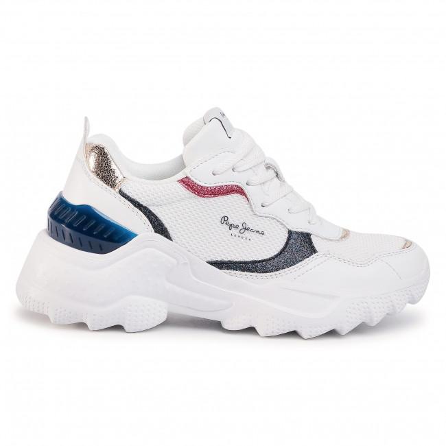 Sneakers PEPE JEANS - Eccles Clex PLS31000 White 800 - Sneakers - Halbschuhe - Damenschuhe 11RyGJ5j