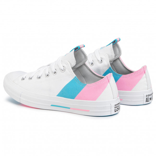 Sportschuhe CONVERSE - Ctas Ox 167760C White/90s Pink/Gnarly Blue - Turnschuhe - Halbschuhe - Damenschuhe W0OKMhcf