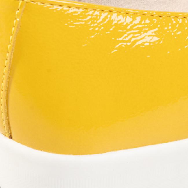 Halbschuhe CAPRICE - 9-24200-24 Lemon Naplak 629 - Flache - Halbschuhe - Damenschuhe KUtu8C6q