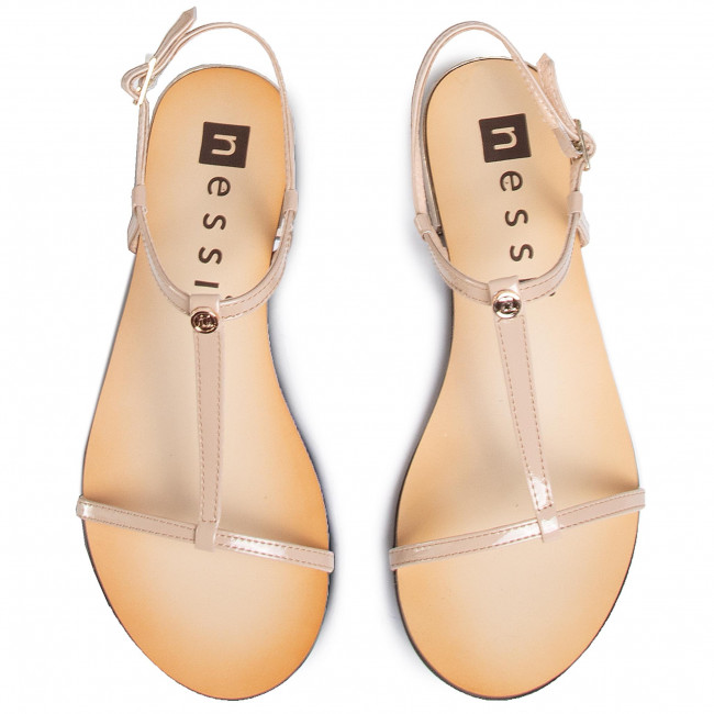 Sandalen NESSI - 49004 Beż Lakier - Alltägliche Sandalen - Sandalen - Pantoletten und Sandaletten - Damenschuhe 3nFJUE6t