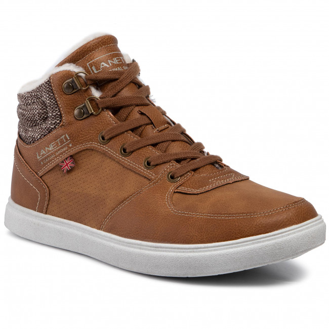 Sneakers LANETTI MP07 6609 10 Camel